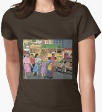 Back of the Bus Womens Fitted T-Shirt