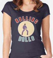 """Big Lebowski Bowling """"Rolling Balls"""" Women's Fitted Scoop T-Shirt"""