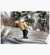 Hittin' It  - Snowboarding Jump Poster