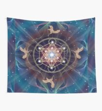 Metatron's Cube - Merkabah - Peace and Balance Wall Tapestry