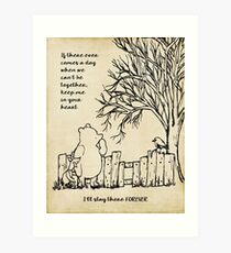 winnie the pooh - keep me in your heart Art Print