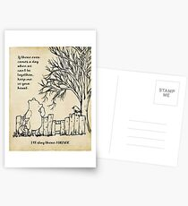 winnie the pooh - keep me in your heart Postcards