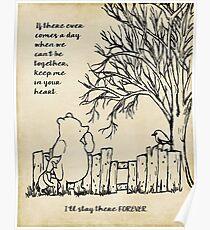 Winnie the Pooh - behalte mich in deinem Herzen Poster