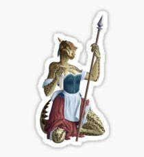 Lusty Argonian Maid Pinup 1 Sticker