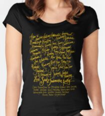 Sail2Indonesia Orange Ink Women's Fitted Scoop T-Shirt