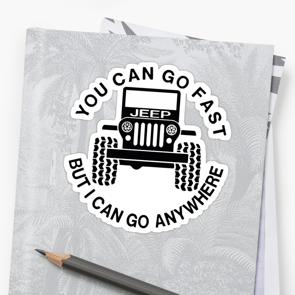 Quot Jeep Quot Sticker By Cryanrich Redbubble
