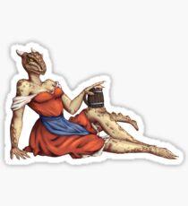 Lusty Argonian Maid Pinup 6 Sticker