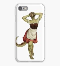Lusty Argonian Maid Pinup 7 iPhone Case/Skin