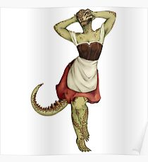 Lusty Argonian Maid Pinup 7 Poster