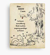 Winnie the Pooh - wie glücklich ich bin Metalldruck