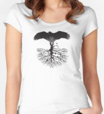 Bird of Pray: Rooted Women's Fitted Scoop T-Shirt