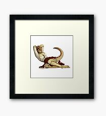 Lusty Argonian Maid Pinup 10 Framed Print