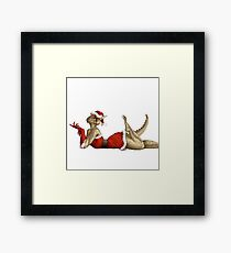 Lusty Argonian Maid Pinup 12 Framed Print