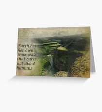 Earth Time Greeting Card