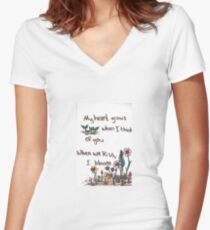 When I Bloom Women's Fitted V-Neck T-Shirt