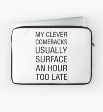 Clever Comeback Laptop Sleeve