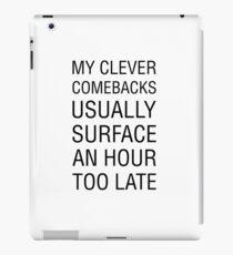 Clever Comeback iPad Case/Skin