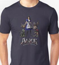Alice: Madness Returns-Alice Liddell, Cheshire Cat, White Rabbit T-Shirt