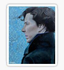 Sherlock Holmes Acrylic Painting Sticker