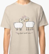 My boo and me, valentine with 2 cartoon sheep Classic T-Shirt