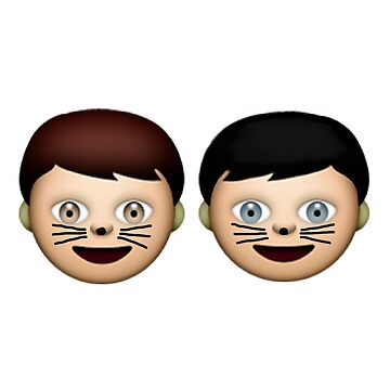 Dan and Phil Emojis by poppetini