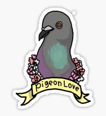 Pigeon Flowers Love  Sticker