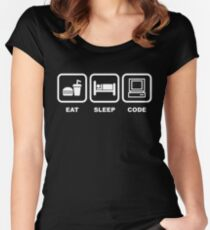 Eat Sleep Code Women's Fitted Scoop T-Shirt
