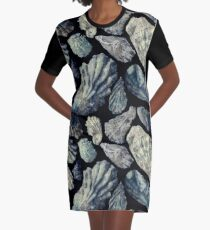 Oyster Shells Graphic T-Shirt Dress