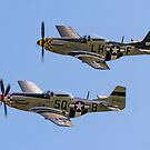 "Maurice Hammond's P-51D Mustangs ""Marinell"" & ""Janie"" by Colin Smedley"