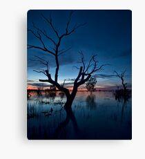 Sunset on the Lake - Menindee, NSW Canvas Print