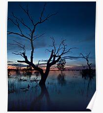 Sunset on the Lake - Menindee, NSW Poster