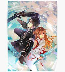 Sword Art Online - SAO - Kirito - Asuna Poster