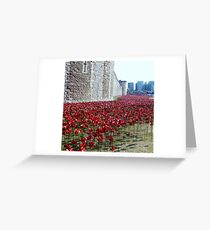 Sea of poppies -Tower of London Greeting Card