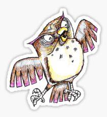 Wise Owl with Gel Pen Sticker