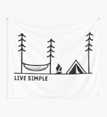 Live Simple Wall Tapestry