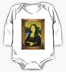 Mona Lisa in Golden Frame One Piece - Long Sleeve
