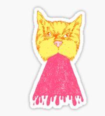 Pink Cat Vomit Sticker