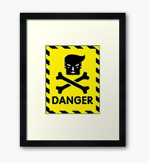 The Dangers of Donald Trump version2 Framed Print
