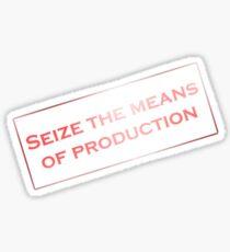 Seize production communist stamp Sticker