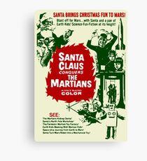 santa brings christmas fun to mars Canvas Print
