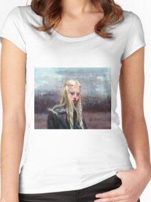 Annita T-shirt femme moulant à col profond