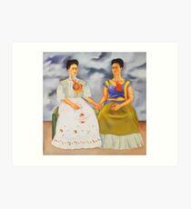 Die zwei Fridas Kunstdruck