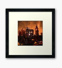 time and space traveller trapped in the zombie land Framed Print