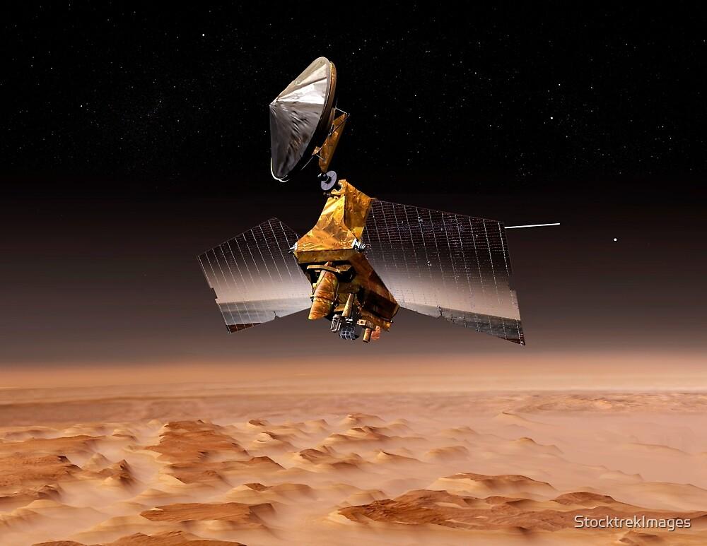 Mars Reconnaissance Orbiter passiert den Planeten Mars. von StocktrekImages