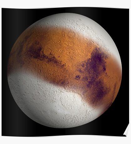 Simulierte Ansicht des Mars. Poster