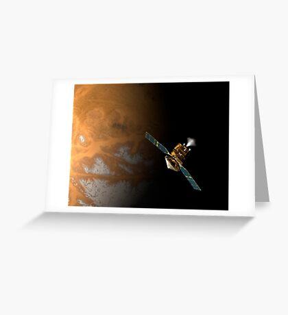Ein Künstlerkonzept des Mars Reconnaissance Orbiter der NASA. Grußkarte