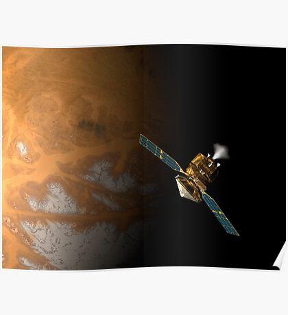 Ein Künstlerkonzept des Mars Reconnaissance Orbiter der NASA. Poster