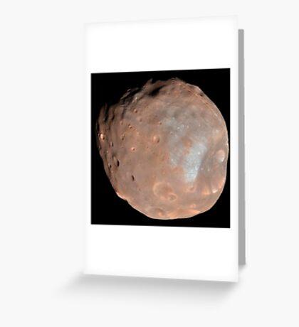 Mars Mond Phobos. Grußkarte
