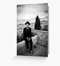 Boy George (Tribes recording session) Greeting Card