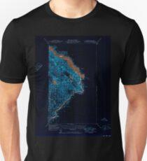 USGS TOPO Map California CA Parker Dam Area 298491 1950 62500 geo Inverted Unisex T-Shirt